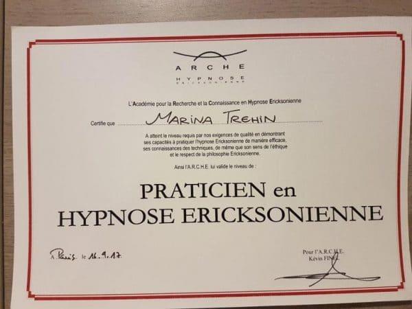 hypnothérapeute certifiée